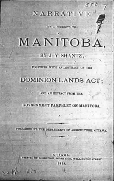 narrative of a journey to manitoba