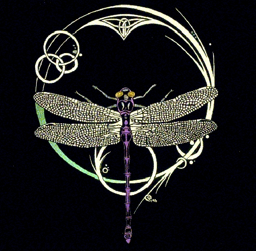 Celtic Dragonfly Drawings Celtic Dragonfly Drawings