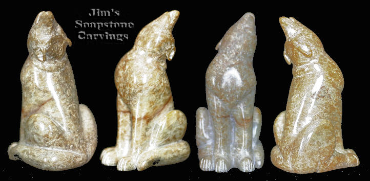 Soapstone wolf original sculptures only
